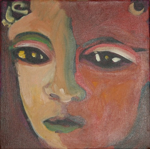 Buddha with Green Lips by Gretchen Reed
