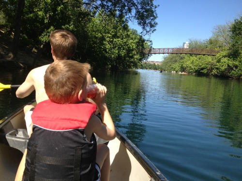 Canoeing Lady Bird Lake with Kids