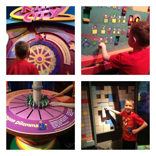 My little mathematician was in numbers heaven in the Cyberchase exhibit.