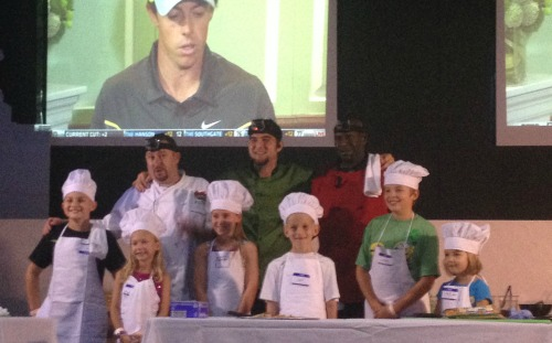 The chefs and their helpers compete for charity.