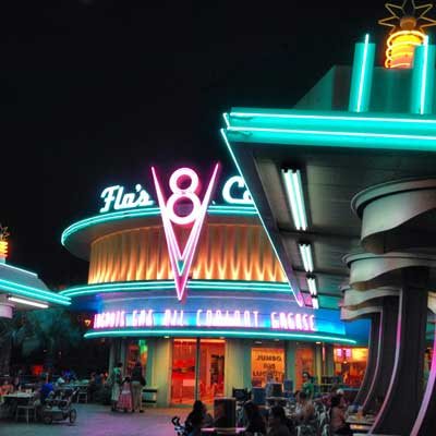 Dining at Flo's Cafe