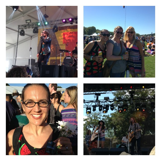 Nightbox; enjoying the Fest with Heidi, covering for ACLwithkids.com; got lots of compliments on my $7 H&M watermelon tank top; Dawn & Hawkes on Sunday.
