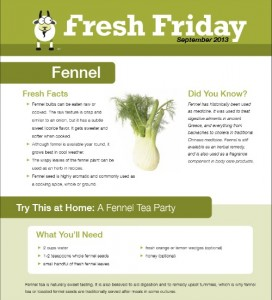 Fresh Friday, Fennel Edition