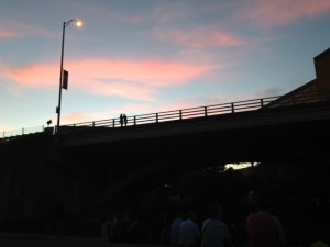 Sunset on the Bridge at dusk