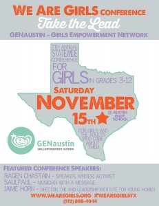 We Are Girls Graphic Flyer 2014