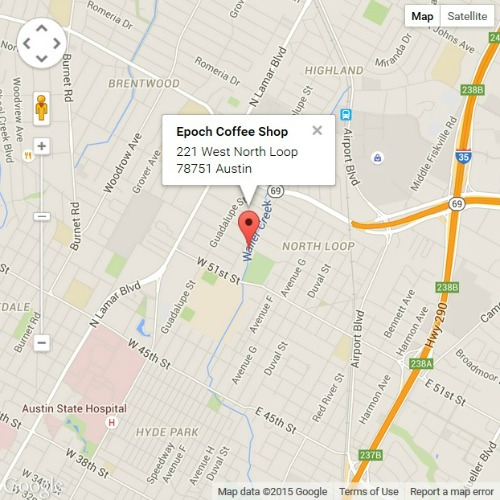 Epoch Coffee Shop map