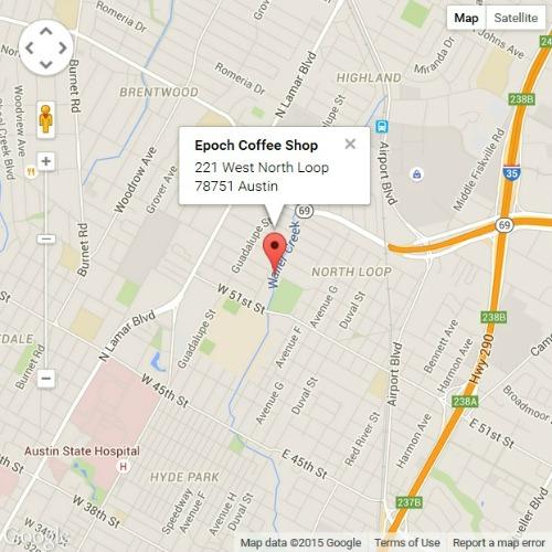 Epoch Coffee Shop map