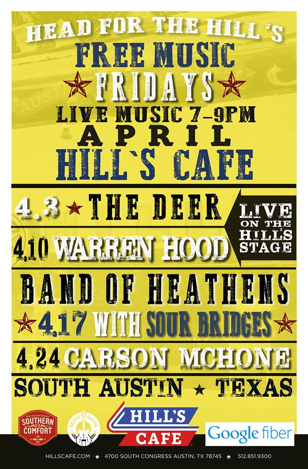 April Head for the Hill's lineup