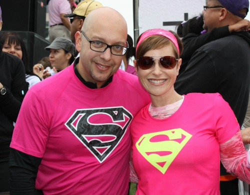 Raychel Funk, Founder of Survivor ATX, and her husband at the 2013 Komen Race for the Cure. Photo courtesy of the Komen Foundation.