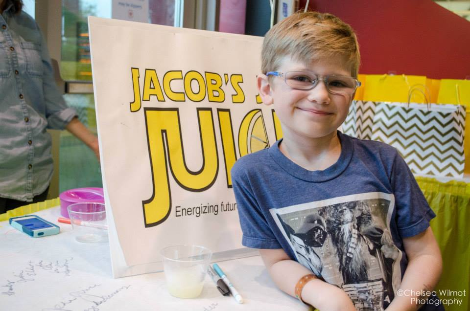 Jacob Riemer with Jacob's Jedi Juice.Photo credit: Chelsea Wilmot Photography.