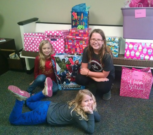 Thanks to these girls and their families, some Austin kids will have a much happier birthday.