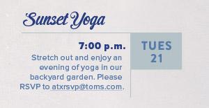 TOMS Sunset Yoga