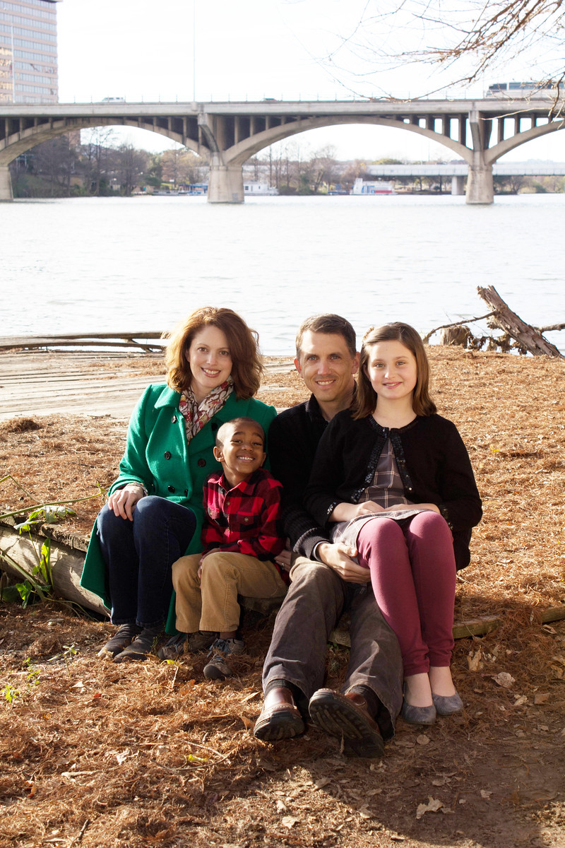 Nicole Vickey and her family