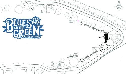Blues on the Green Zilker map