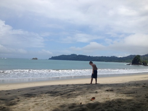 """Our"" beach at Manuel Antonio National Park."