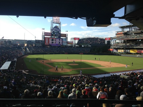 Colorado Rockies game at Coors Field