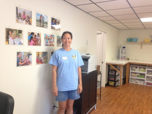 Little Helping Hands founder and Executive Director, Marissa Vogel, in the foyer of the new space.