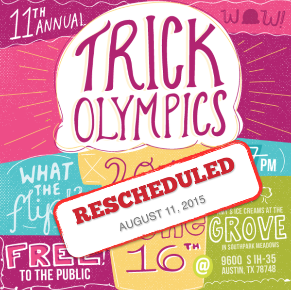 amy's trick olympics rescheduled