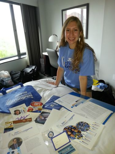 Berkeley Barnett at the 2015 JDRF Children's Congress in Washington, DC