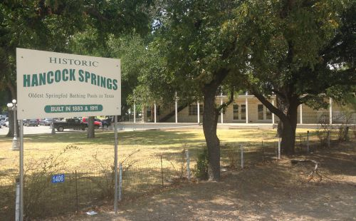 hancock springs sign