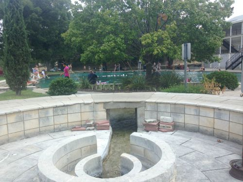 You can watch the spring water enter the pool!