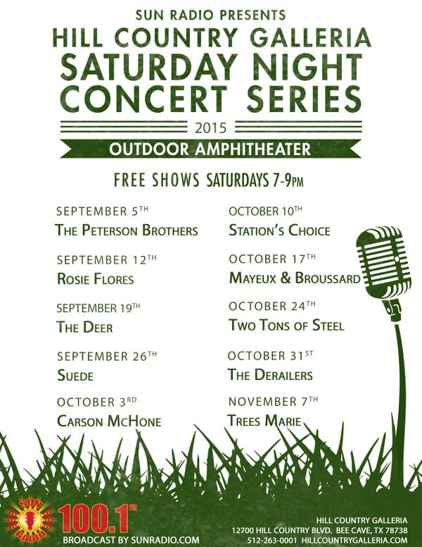 hill country galleria fall 2015 concerts