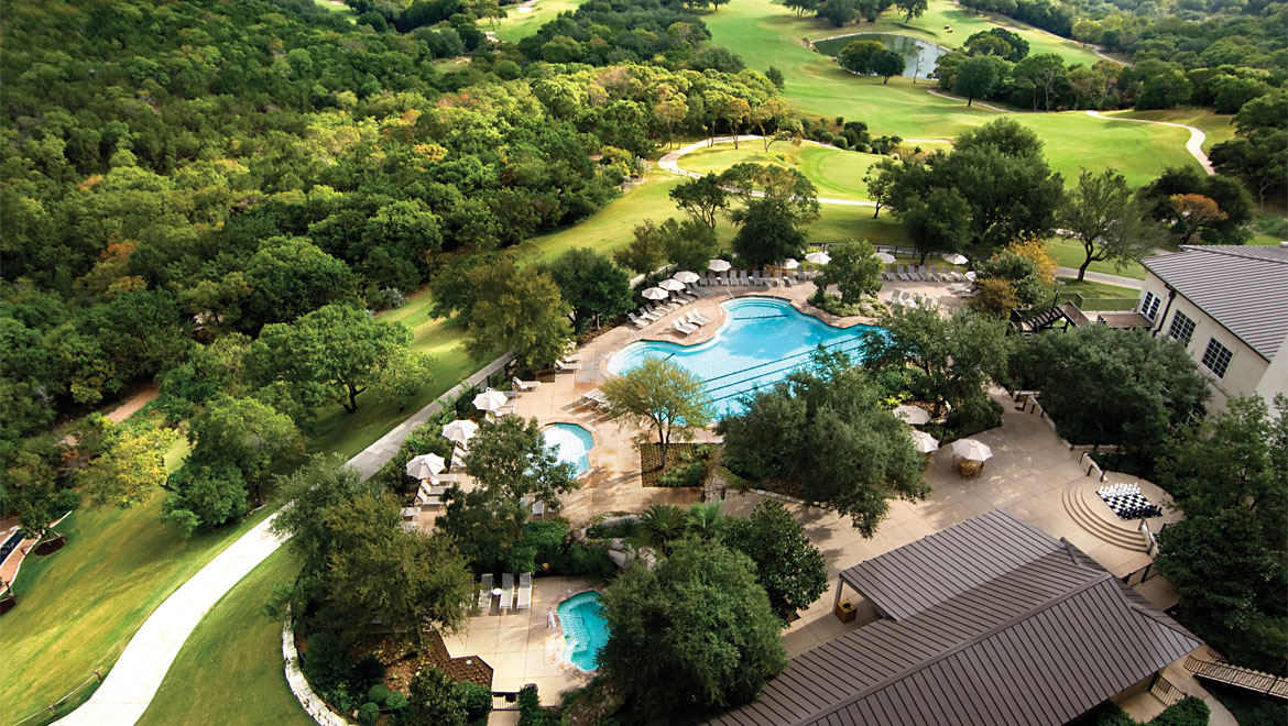 The resort pool feautres a natural rock setting near the kids' pool and secluded hot tub. During the summer, wait staff can bring you a peach margarita or kid-friendly snacks. A heated indoor pool is also open for swimming year-round.