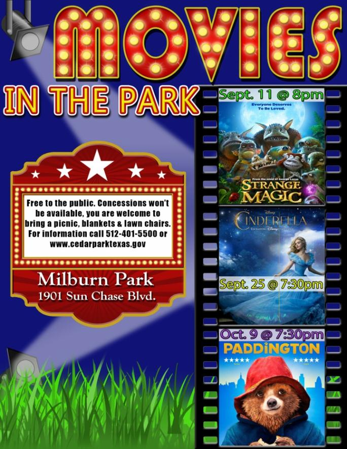 2015 fall CP movies in the park