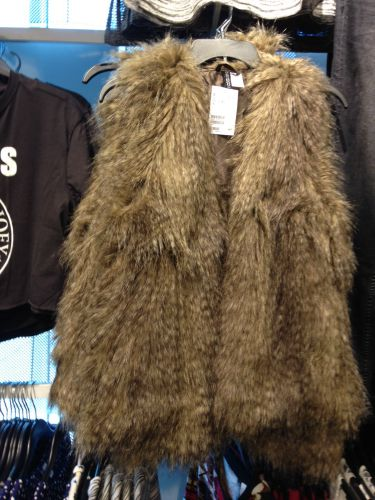 There is no doubt I will see someone at ACL wearing something like this furry number I saw at H&M.