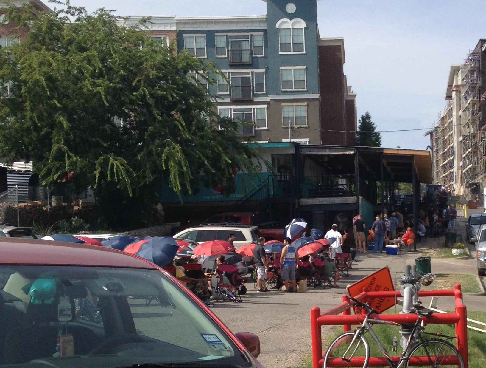 The line at Franklin has turned into quite the social scene, since patrons have to spend many hours together waiting to taste the world-famous smoked meats.