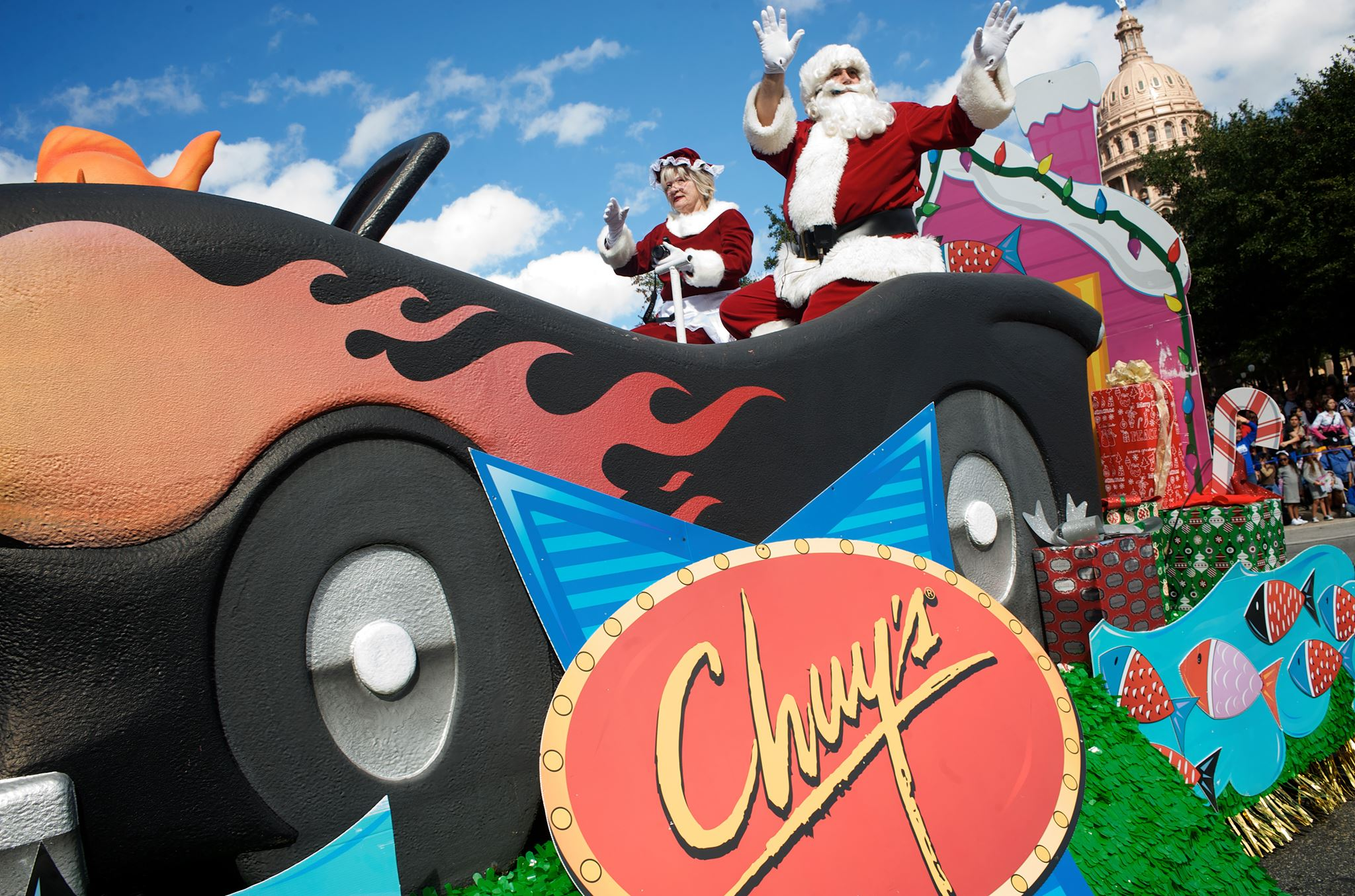 Photo from the Chuy's Children Giving to Children Parade Facebook Page