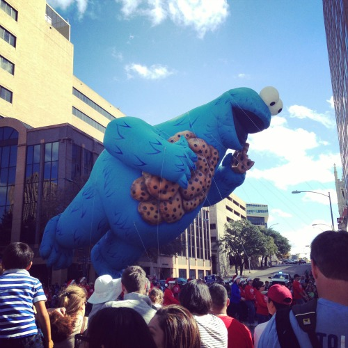 Cookie Monster was one of the balloons at last year's Chuy's Parade.