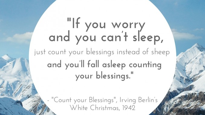 If you worry and you can't sleep