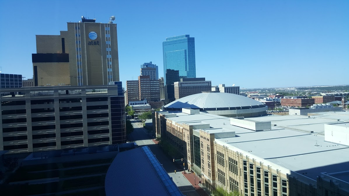 View from the room at Omni Fort Worth