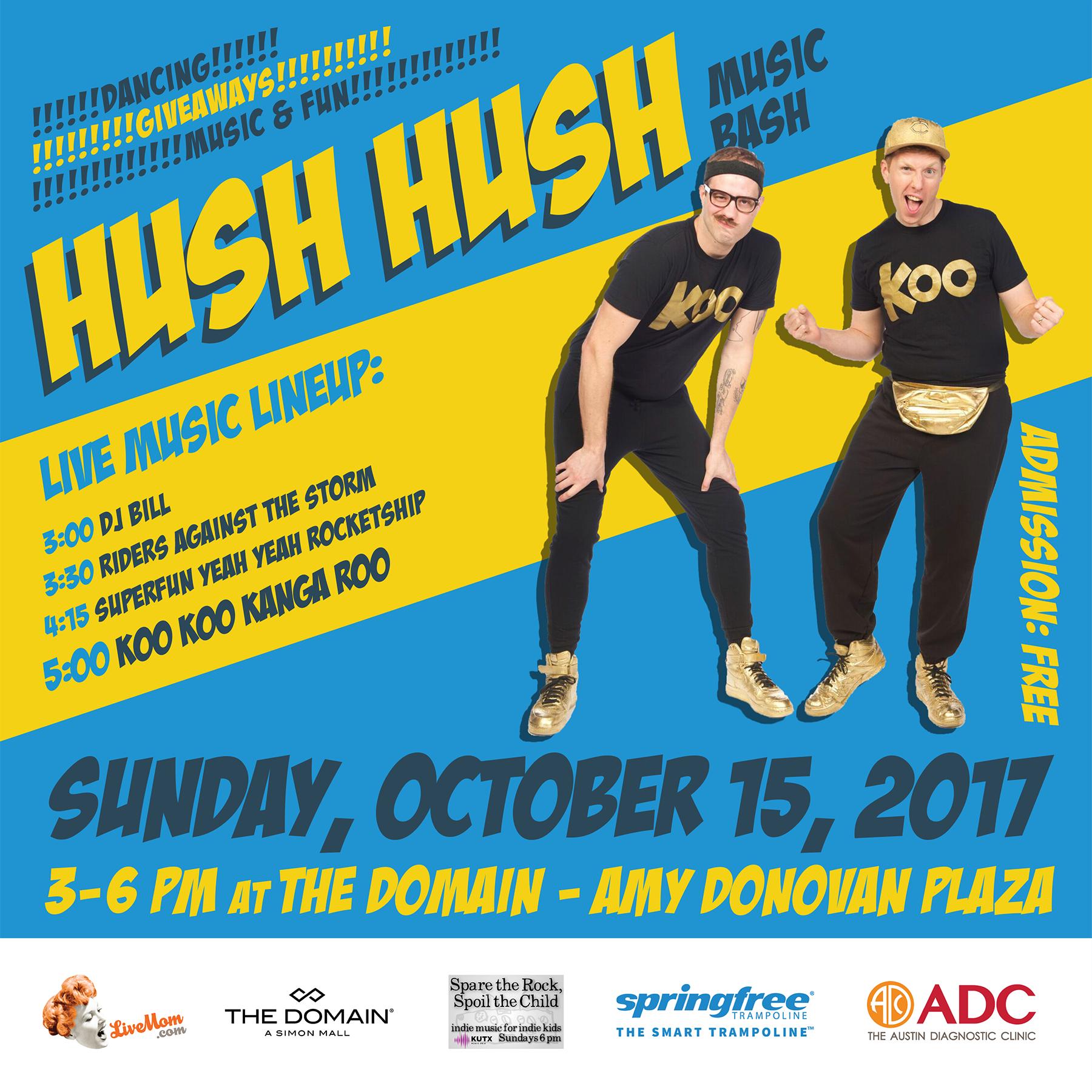 Hush Hush Music Bash at The Domain