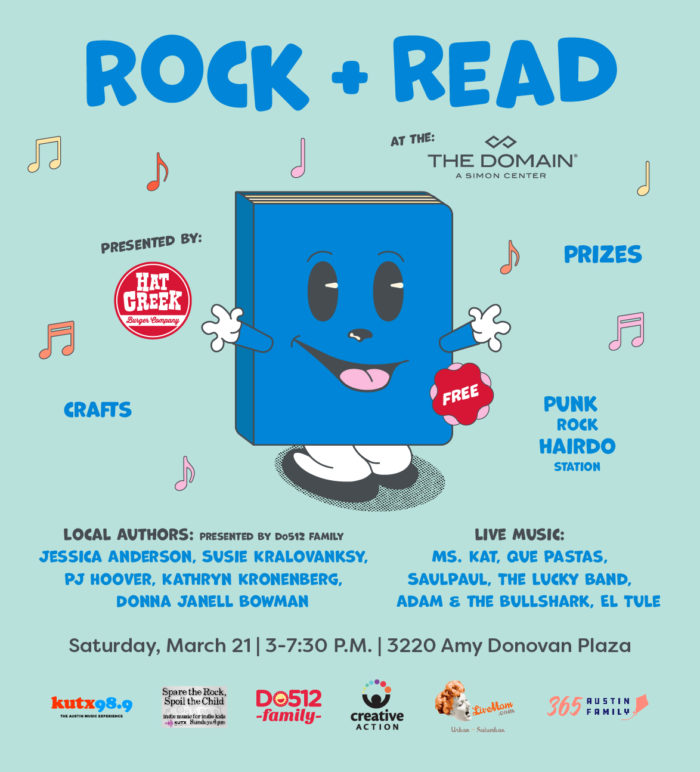 Rock + Read at The Domain