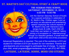 St. Martin's Day Cultural Story & Craft Hour