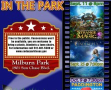 Event: 2015 Fall Movies in the Park at Elizabeth Milburn Park