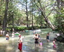 Cooling Off at Blue Hole in Wimberley