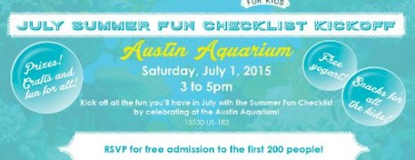 July Summer Fun Checklist Kickoff Event