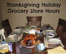 Thanksgiving Holiday Hours for Grocery Stores in Austin