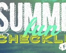 2015 Summer Fun Checklist for Kids