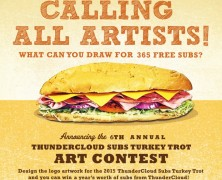 Win 365 Subs By Entering This Year's ThunderCloud Subs Turkey Trot Art Contest