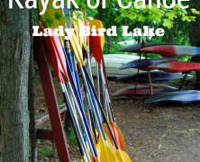 Kayak or Canoe Lady Bird Lake