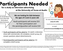 Participants Needed for Study at the University of Texas